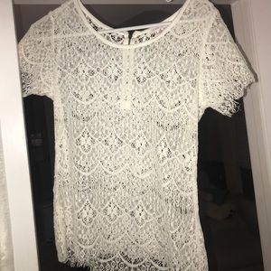 Lace white top from Nordstrom